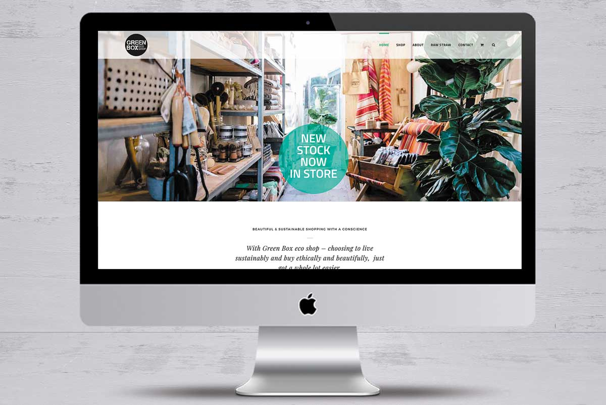 green box eco shop worthy creative design