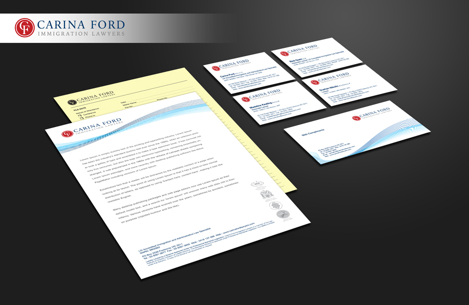 Carina Ford Immigration Lawyers stationery