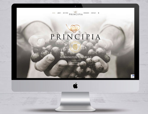PRINCIPIA WINES WEBSITE BUILD