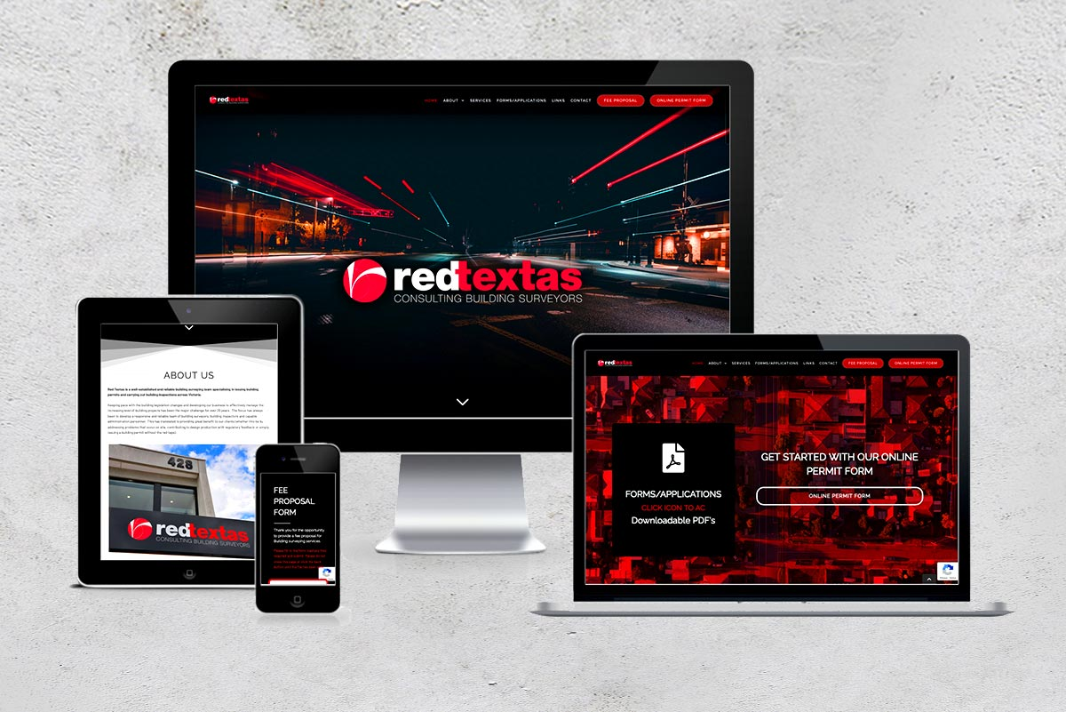 Red textas home page-responsive image