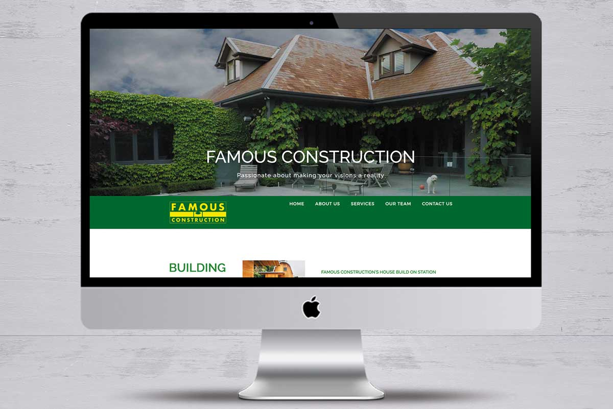 famous construction no1 website design mornington peninsula