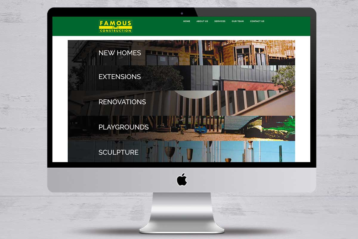 famous construction no2 website design mornington peninsula
