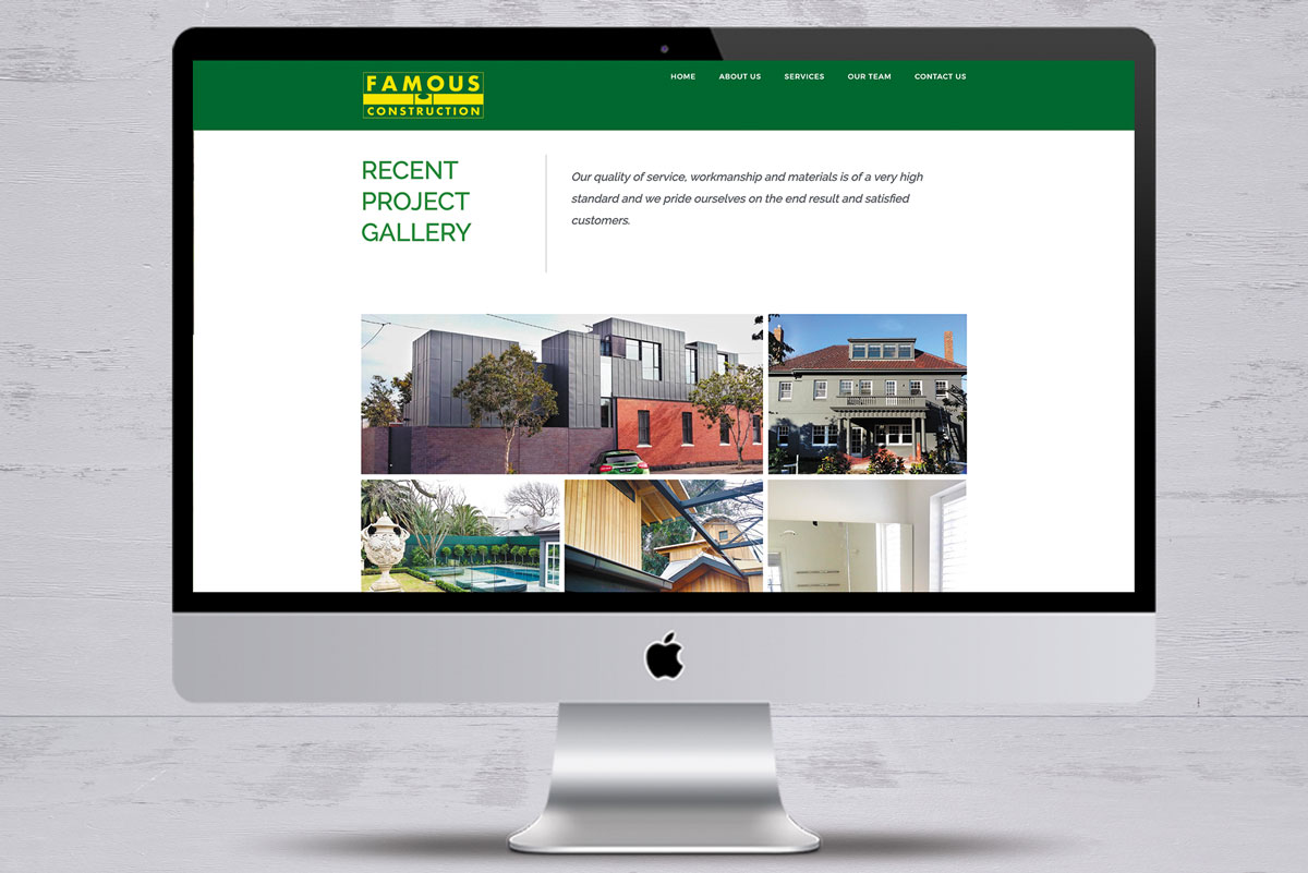 famous construction no3 website design mornington peninsula