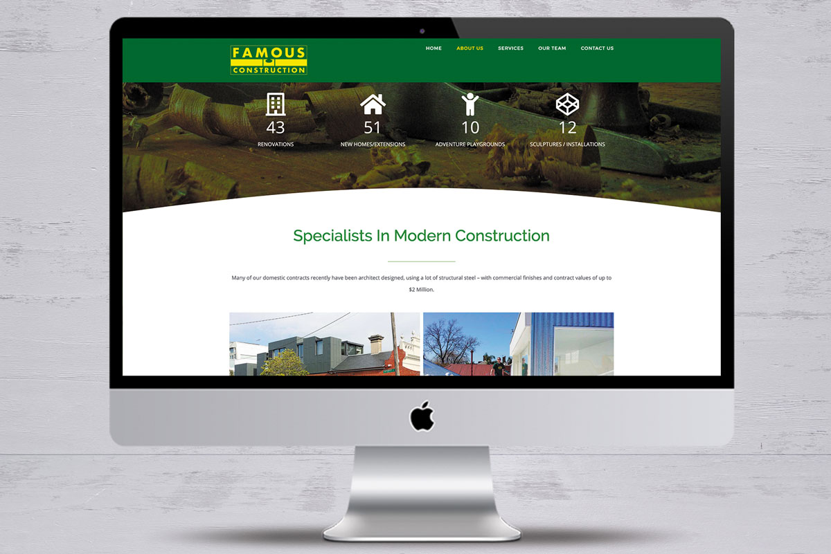 famous construction no4 website design mornington peninsula
