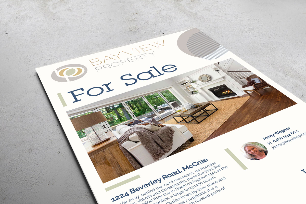 bayview property branding sale board